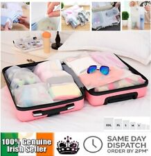 7 Pieces Organiser Set Luggage Suitcase Storage Packing Travel Bags Cubes Case