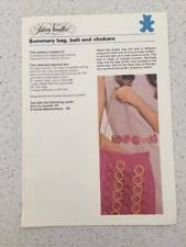 Silver Needles Summery Bag, Belt and Chokers Sewing Pattern Vintage