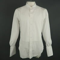 THOM BROWNE Size XXL White Solid Cotton Button Up Long Sleeve Shirt