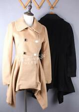 LD Italy wool cashmere blazer coat design midi Asymmetric button embelish wrapM