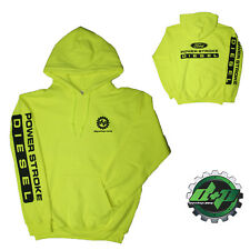 MEDIUM Yellow DPP Ford powerstroke diesel Hoodie hooded sweatshirt long sleeve
