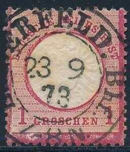 D.Reich Nr. 19 gestempelt, markanter Fleck am Unterrand (39378)