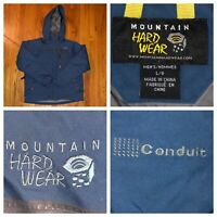 Mountain Hardwear Men's Blue Conduit Down Ski Snowboarding Parka Jacket Sz Large