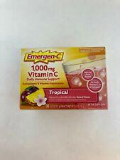 Emergen-C Tropical Vitamin C 1000 mg Full Immune Support Supplement 30 Packets