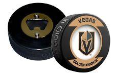 Vegas Golden Knights Retro Series Hockey Puck Bottle Opener