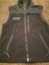Columbia Titanium Tech Full Zip Vest Mens Sz M Zip Pockets Black EUC