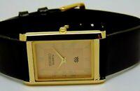 Seiko Quartz Super Slim Men's Gold Plated  Golden Dial Excellent Watch Run Order