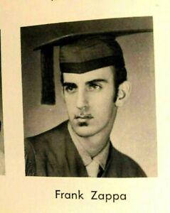 1958 FRANK ZAPPA ORIGINAL HIGH SCHOOL YEARBOOK GRADUATION PHOTO + IN ORCHESTRA