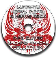 350 HEAVY ROCK & HEAVY METAL MP3 GUITAR BACKING TRACKS COLLECTION JAM TRACKS CD
