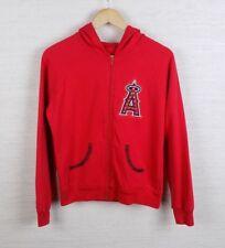 Majestic Anaheim Angels Womens Lightweight Sweater Jacket Size Large Rhinestone