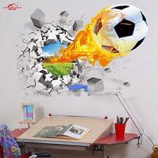 3D agujero en la pared fútbol decoración hogar Pegatina Vinilo Pared