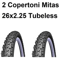 2 Copertoni Mtb 26 Per Bici Bicicletta Mitas Kratos Tubeless 26x2.25 Pieghevole