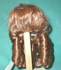 Glorex Perücke 28-29 hellbraun 8623 Zapfenlocken/doll wig light brown Glorex