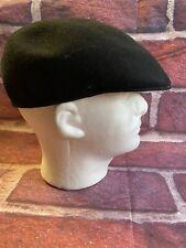 Stetson Cuffley Cap WPL 6430 100% Wool Made in England Sz L Black
