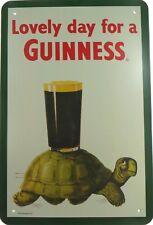 US SELLER, Lovely day for a Guinness metal tin sign vintage garage decor