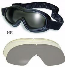 Spider Padded Anti-Fog Motorcycle ATV Goggles Kit-2 Lenses-Fit Over RX Glasses