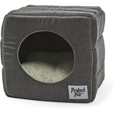 Perfect Pet Cube Cat House - Charcoal