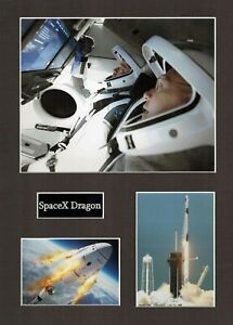 SPACEX Dragon 1 16 x 12 Photo Montage Display D, ISS Space EXPLORATION Falcon 9