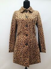 Womens H & M Faux Pony Skin Fur Leather Leopard Winter Coat Jacket Size 8 or 10