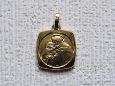 Belle médaille carrée de Saint Antoine