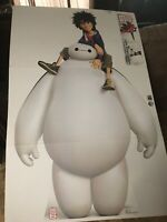 Baymax & Hiro Disney's Big Hero 6 Lifesize Cardboard Cutout Party Decoration NEW