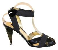 Dolce & Gabbana shoes Patent Leather Ankle Strap Gold 38 ½ (us8) evening Sandals