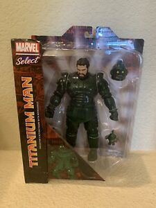 """Diamond Select Toys Marvel Select Titanium Man 9.5"""" Action Figure In Hand New"""