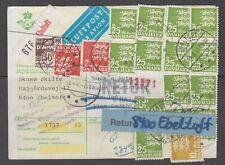 Denmark 1981. Air mail Cod. parcel card for 10 kg parcel to Greenland. Returned.