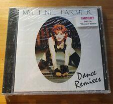"MYLENE FARMER Dance Remixes CD Europe IMPORT NEUF + ""MY SOUL IS SLASHED"""