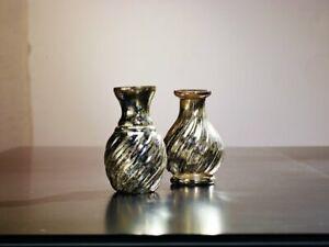 Mercury Glass Vases - Set of 2