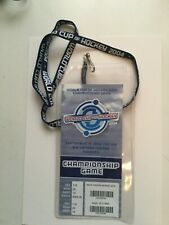 2004 World Cup of Hockey championship rare ticket with lanyard