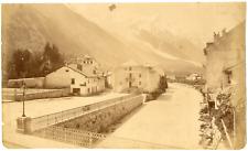 France, Chamounix Vintage albumen print, Tirage albuminé  16x26  1870  <