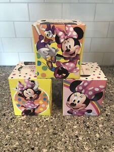 Minnie Mouse Facial Tissues, 3-Boxes, 72 Per Box, NEW Disney Junior