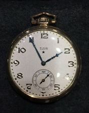 10K YELLOW GOLD FILLED ELGIN OPEN FACE POCKET WATCH