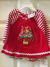 RARE EDITIONS Red 2 Pc Christmas Tree Dress & Matching Green Leggings Set 6m NWT