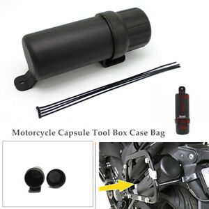 1PCS Motorcycle Capsule Tool Box Case Bag Storage Universal  W/Waterproof O-ring