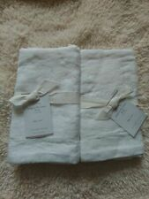 pottery barn BELGIAN FLAX LINEN 2 euro sham original $150 new white