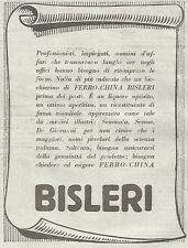 W7272 Ferro-China BISLERI - Pubblicità del 1932 - Old advertising