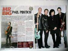 COUPURE DE PRESSE-CLIPPING :  MR.BIG [4pages] 01/2011 Paul Gilbert,What If