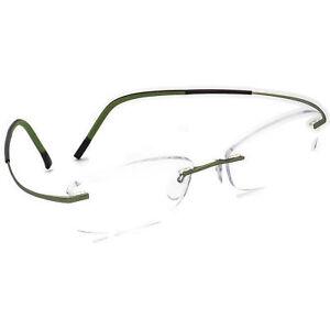 Silhouette Eyeglasses 7581 40 6053 Titan Green Rimless Frame Austria 52[]17 145