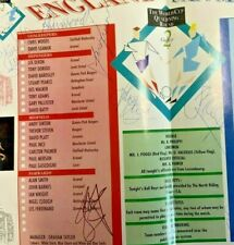 More details for world cup england v san marino 1993 autographed by 1993 england squad football