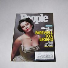 PEOPLE MAGAZINE APRIL 11, 2011 FAREWELL ELIZABETH TAYLOR DEATH COVER