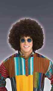 Jumbo Afro Hippie 60s Wig Adult Costume Accessory Brown One Size