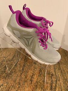 Reebok CrossFit Memory Foam Purple Gray Cross Training Shoes Women 8