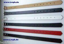 4 Cinghia di Fissaggio Fascia 60 x 2,5 cm Cintura pelle Nero Cinturino