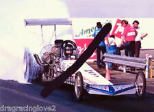 """Don """"Big Daddy"""" Garlits """"God is Love"""" NAVY 1977 Top Fuel Dragster PHOTO!"""