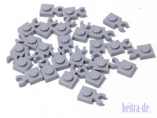 LEGO - 25 x Platte 1x1 hellgrau mit O - Clip waagerecht / 4085d NEUWARE