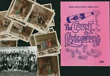 More details for bridport amateur dramatic society 1973  count of luxembourg + 23 photos e2.876