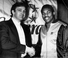 DONALD TRUMP HERSCHEL WALKER 8X10 PHOTO NEW JERSEY GENERALS PICTURE USFL FOOTBAL