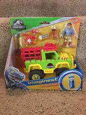 2018 Imaginext Dinosaur Jurassic Park World Dr. Grant Figure & 4x4 Jeep Vehicle